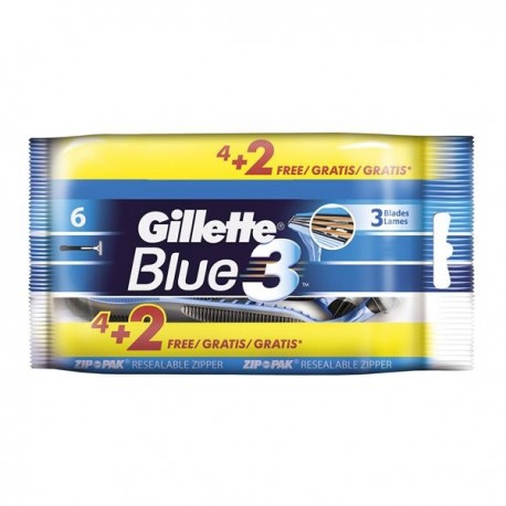 Gillette Blue 3 Einwegrasierer 4+2 Gratis