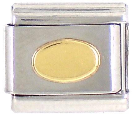 Geometrisch ELLIPSE flach glatt - gold