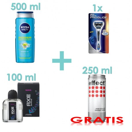 Multi-Men-Box (Nivea, Gillette, Axe) + Gratis effect Energy