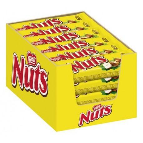 Nestlé Nuts Schokoriegel mit Nuss und Karamell 24  x 42 g Riegel
