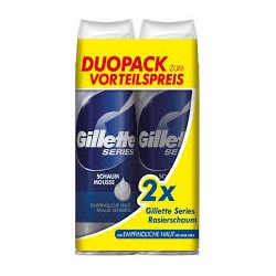 Gillette Duo Pack Series Schaum Sensitive 2x250ml