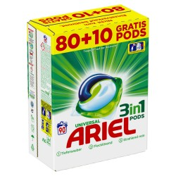 Ariel 3in1 Pods Regular 80+10WL Gratis