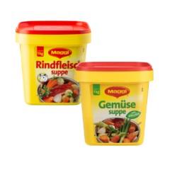 Maggi Rind / Gemüse Suppe  je 1000 g Eimer