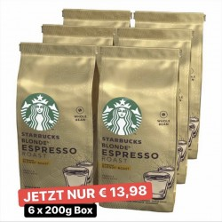 Starbucks Röstkaffee Ganze Bohnen 6 x 200g