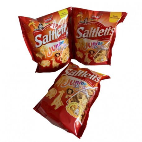 Saltletts Junior Farm Knabber Chips Laugengebäck 12 x 150g