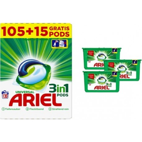 Ariel 3in1 Pods Regular 105+15WL GIGA BOX