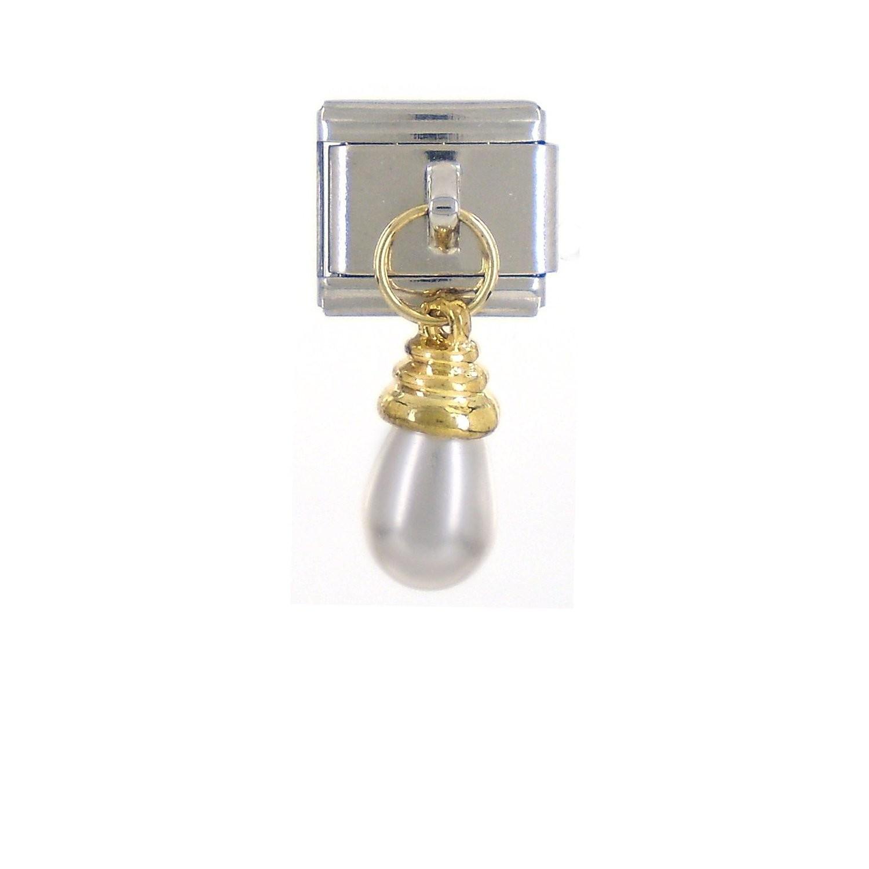 PERLENTROPFE - gold/perlweiß