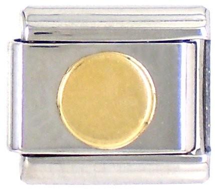 Geometrisch KREIS flach glatt - gold