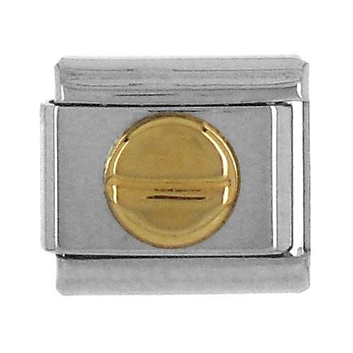 Geometrisch KREIS/Strich 3D glatt - gold