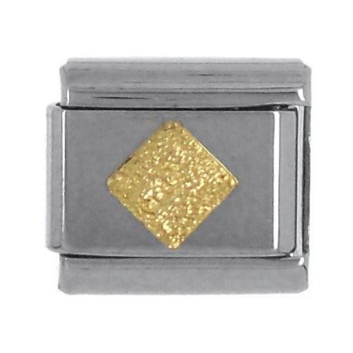 Geometrisch RAUTE flach Klitzer - gold