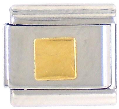 Geometrisch QUADRAT flach glatt - gold