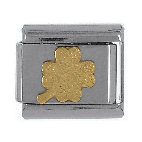 Glückszeichen KLEEBLATT Blitzer - gold
