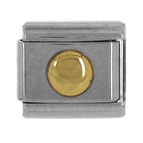 Geometrisch KREIS 3D glatt - gold