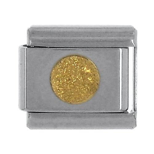 Geometrisch KREIS flach Klitzer - gold