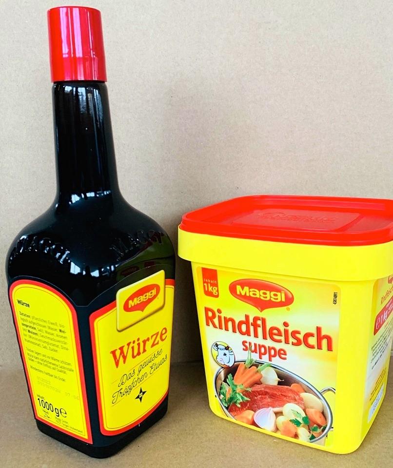 Würze + Rinds-Suppe